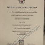 Marketing University of Nottingham fake certificate…Guaranteed!
